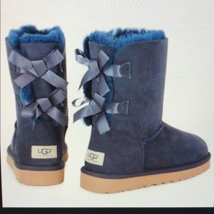 UGG Shoes   Ugg Bailey Bow Boots Navy